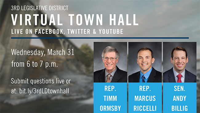 MEDIA ADVISORY: 3rd Legislative District to Host Virtual Town Hall on Wednesday