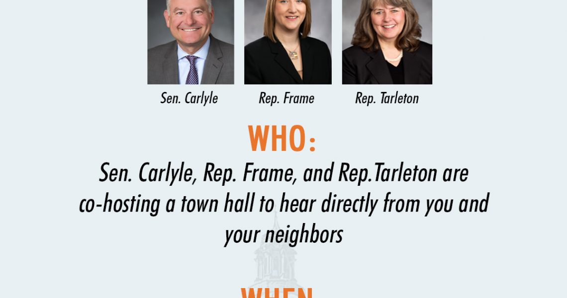 36th Legislative District town hall to be held March 11