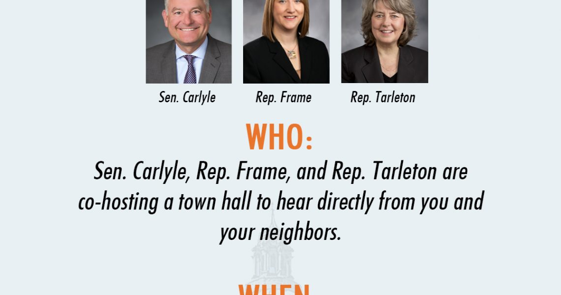 36th Legislative District town hall to be held January 6