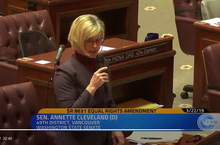 Senate adopts Cleveland resolution on anniversary of ERA