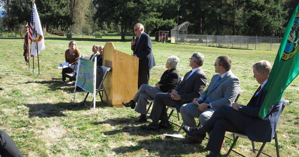 Sen. Conway presents award, attends grand opening of Orting Veterans Village