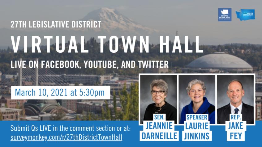 27th Legislative District Virtual Town Hall Graphic