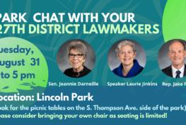 27th Legislative District Park Chat Announcement