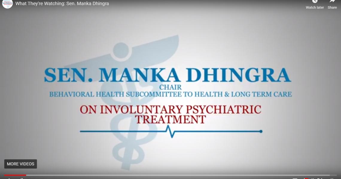 What They're Watching: Sen. Manka Dhingra