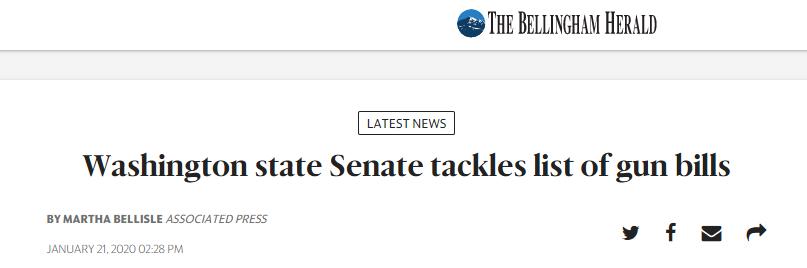 Washington State Senate Tackles List of Gun Bills