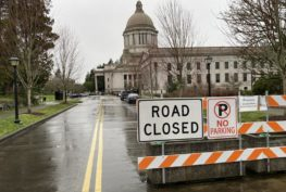 Washington's Capitol building will be closed to the public during the 2021 legislative session because of COVID-19. Most lawmakers will work remotely and public testimony will happen via Zoom. AUSTIN JENKINS / NW NEWS NETWORK