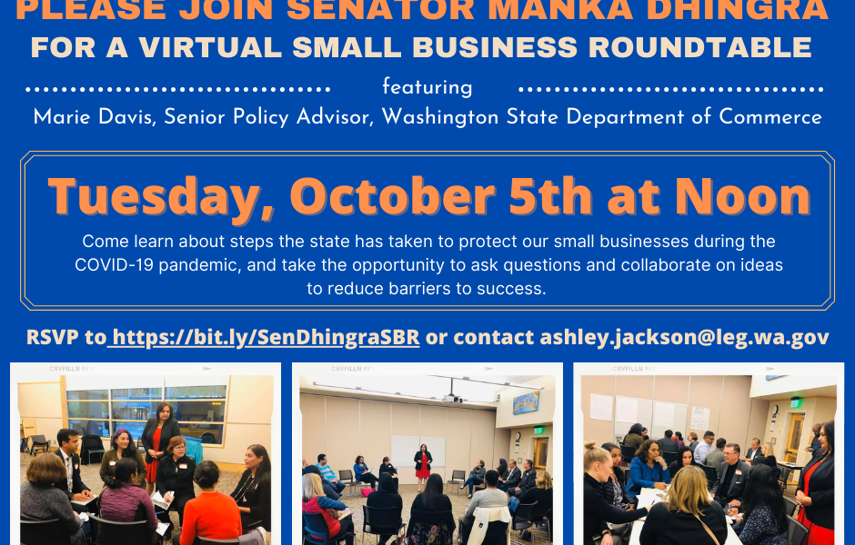 Dhingra to host third annual small business roundtable