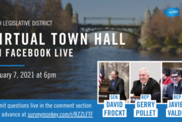 46th Legislative District Virtual Town Hall on Facebook Live, January 7, 2021 at 6 pm