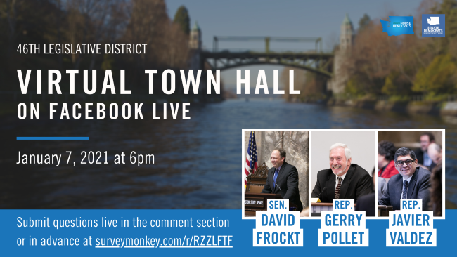 46th District Virtual Town Hall on Facebook Live