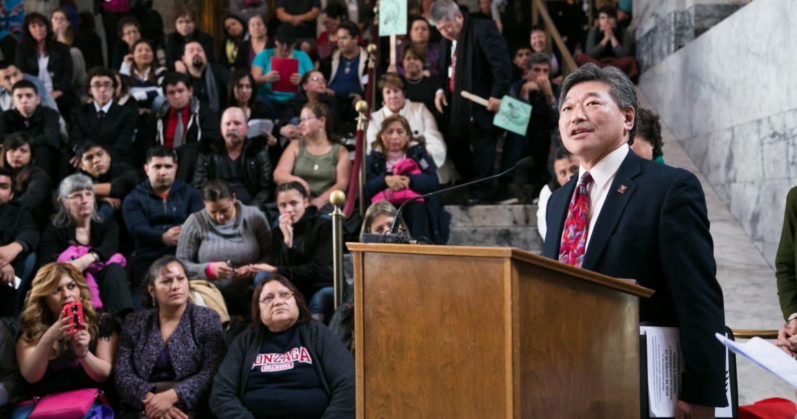 Hasegawa to Congress: 'Our democracy is not for sale'
