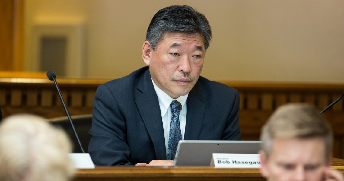 Hasegawa to serve on key Senate committees, two as vice-chair