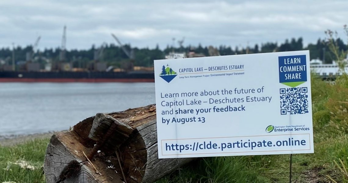 Register TODAY for online public hearing on the Capitol Lake - Deschutes Management Project during