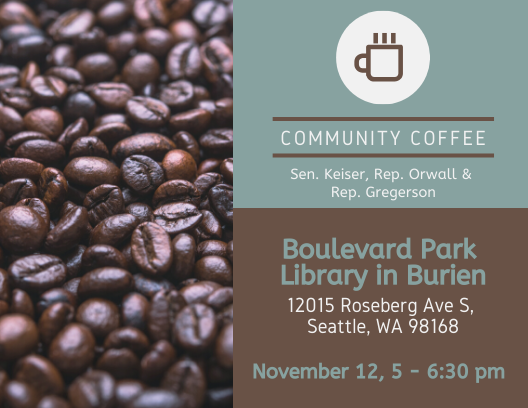 33rd LD Delegation to host Nov. 12 coffee hour