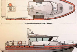 South King Fire and Rescue's new Maritime Emergency Response Vessel will be similar to this model drawing. Courtesy South King Fire