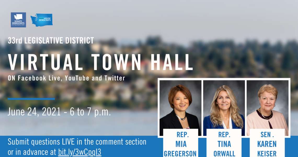 Keiser, Orwall, Gregerson to hold virtual town hall June 24