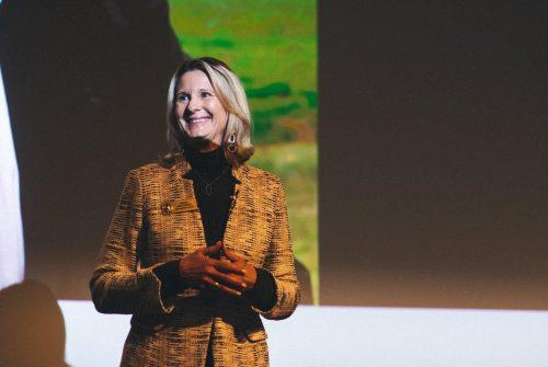 WA State Senator Patty Kuderer speaking at the Women in Cloud conference