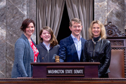 Sen. Kuderer with Ken Jennings and Family - March 3, 2020