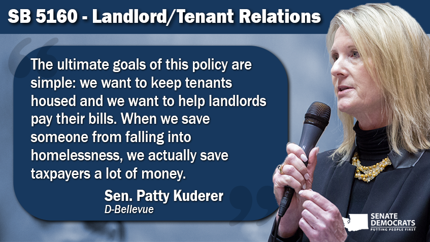 Kuderer bill to help renters and landlords during pandemic wins Senate approval