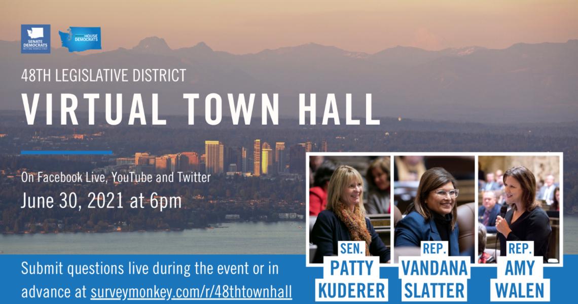Kuderer, Slatter, Walen to hold virtual town hall June 30