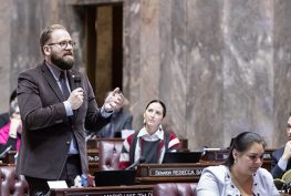 Sen. Marko Liias on the Senate Floor