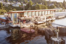 Aerial view of new Mukilteo Ferry Terminal