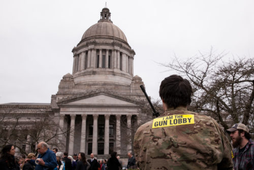 armed advocate at the washington state capitol