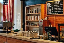 stock image of inside of coffee shop
