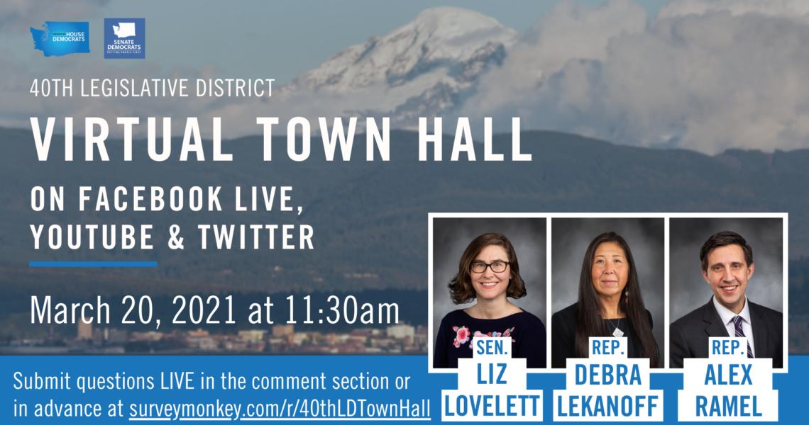 You're invited: 40th Legislative District Virtual Town Hall