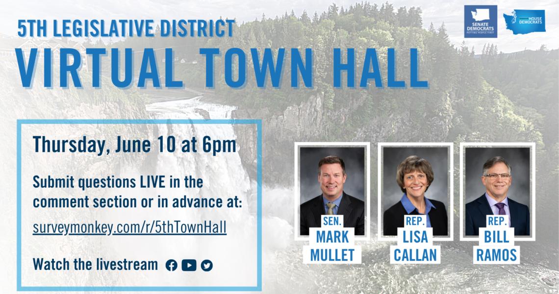 Mullet, Callan, Ramos to host virtual town hall meeting Thursday