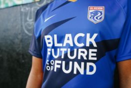 OL Reign place Black Future Coop Fund front and center on the 2021 kits. COURTESY OF OL REIGN