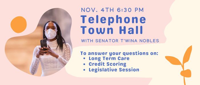 You're Invited! Telephone Townhall Nov. 4 at 6:30 PM