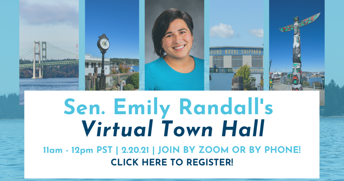 Reminder: Virtual Town Hall SATURDAY, 2/20, from 11am-12pm!