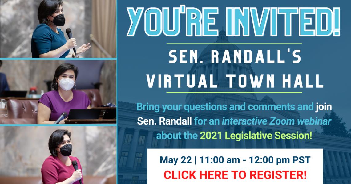 E-news: REMINDER - May 22 Virtual Town Hall coming up!