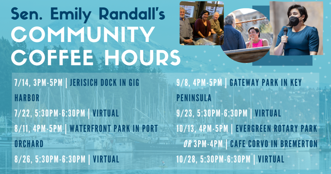 REMINDER: Coffee Hour today @ Waterfront Park, 4pm-5pm!