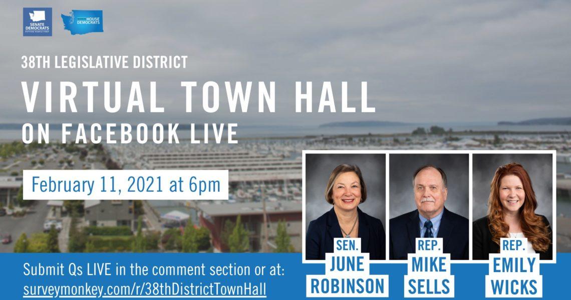 Join us! - 38th LD Virtual Town Hall - Feb. 11 @ 6:00pm