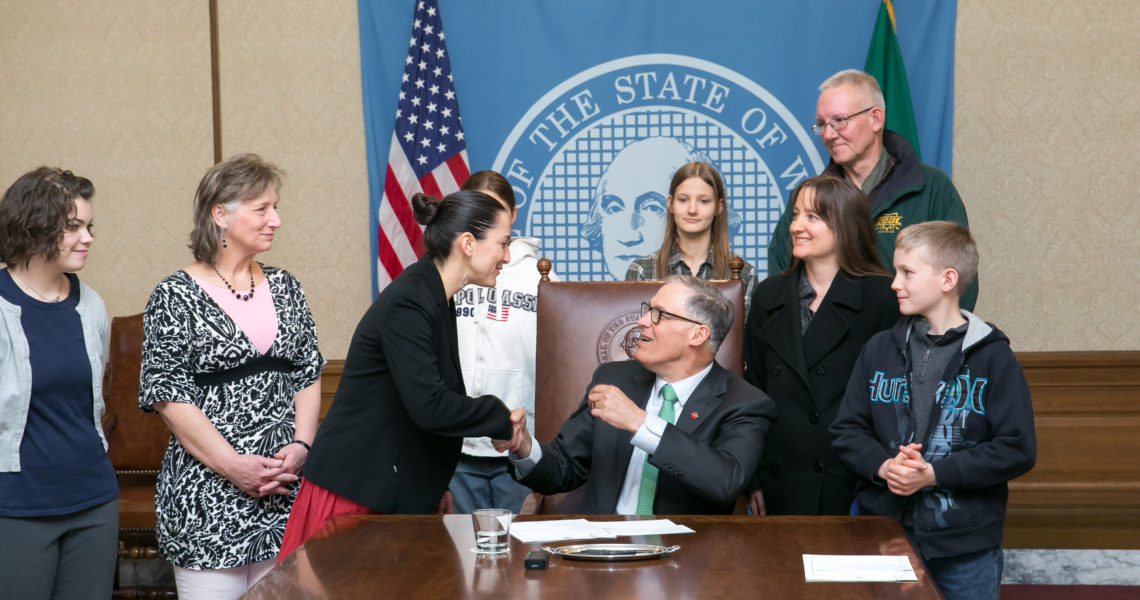 Saldaña's first bill signed into law