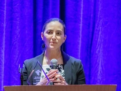 Saldaña receives Municipal League award for voting rights legislation