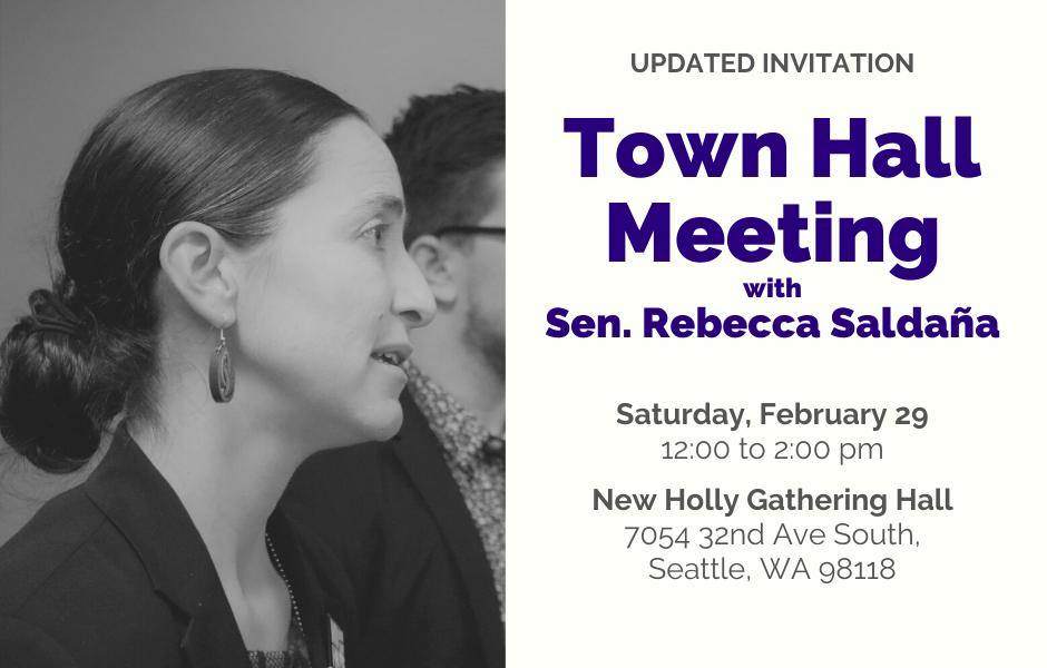 MEDIA ADVISORY: 37th Legislative District town hall meeting on Feb. 29
