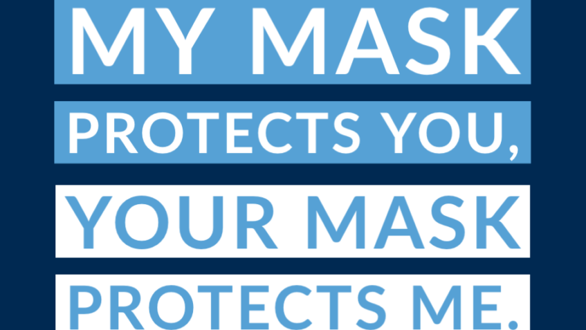 Graphic: My mask protects you, your mask protects me.