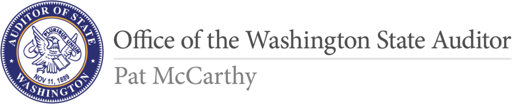 Logo for the Office of the Washington State Auditor, Pat McCarthy