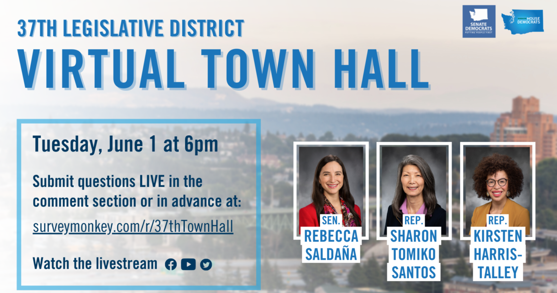MEDIA ADVISORY: 37th Legislative District Virtual Town Hall on June 1