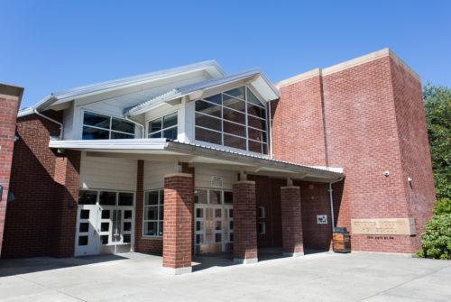 Exterior photo of 32nd Legislative District. Edmonds Woodway High School, WA.