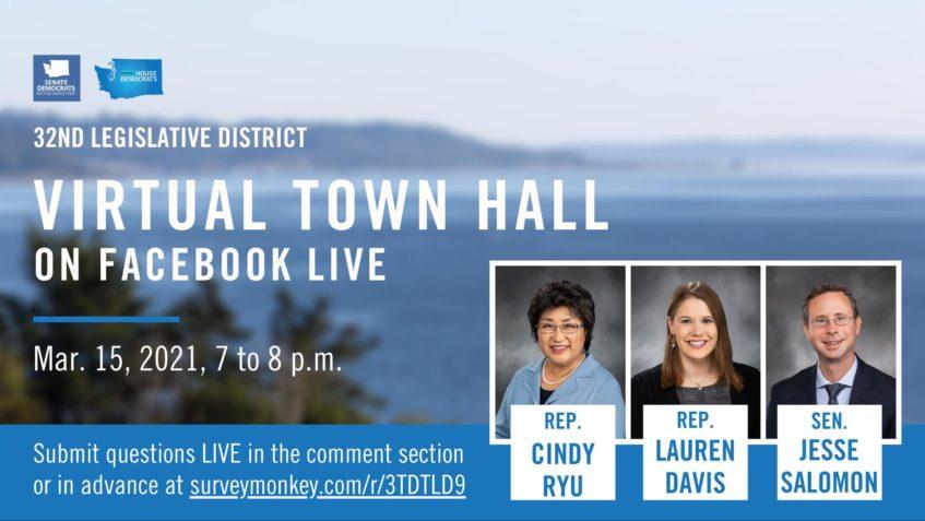 My Edmonds News: 32nd District legislators hosting live virtual town hall March 15