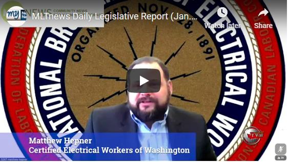 MLT News: Daily Legislative Report: Jan. 25, 2021