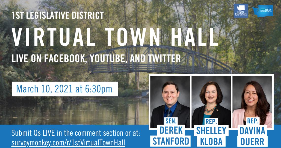 MEDIA ADVISORY: 1st Legislative District virtual town hall