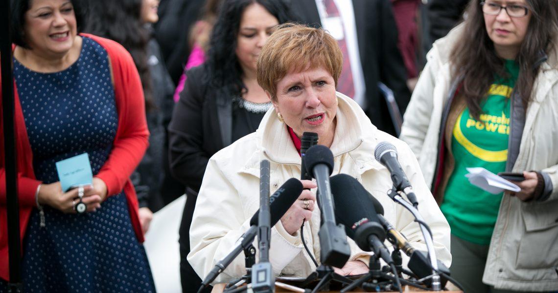 Wellman speaks during Latino Legislative Day