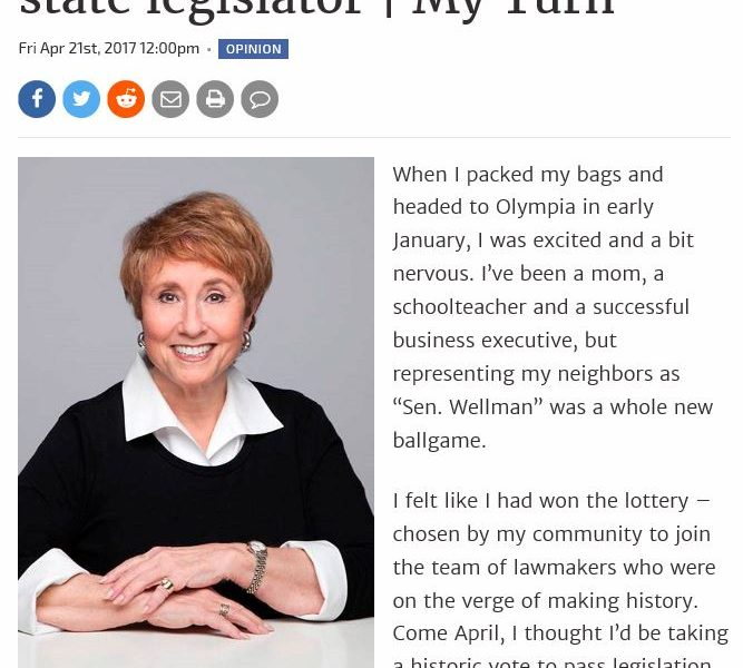Wellman: Lessons learned by a rookie state legislator