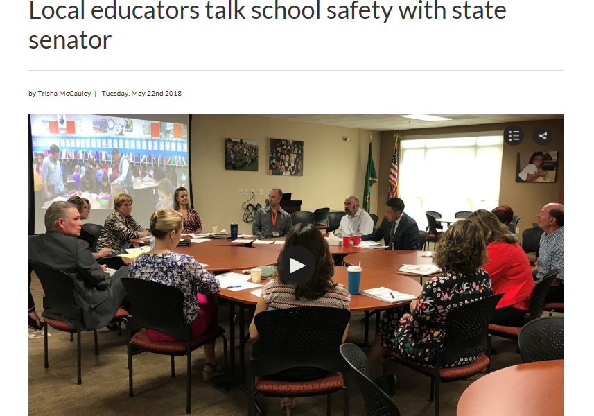 KIMA-TV coverage: Local educators talk school safety with state senator