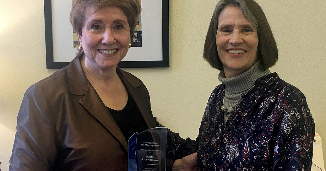Wellman honored for her work supporting the arts