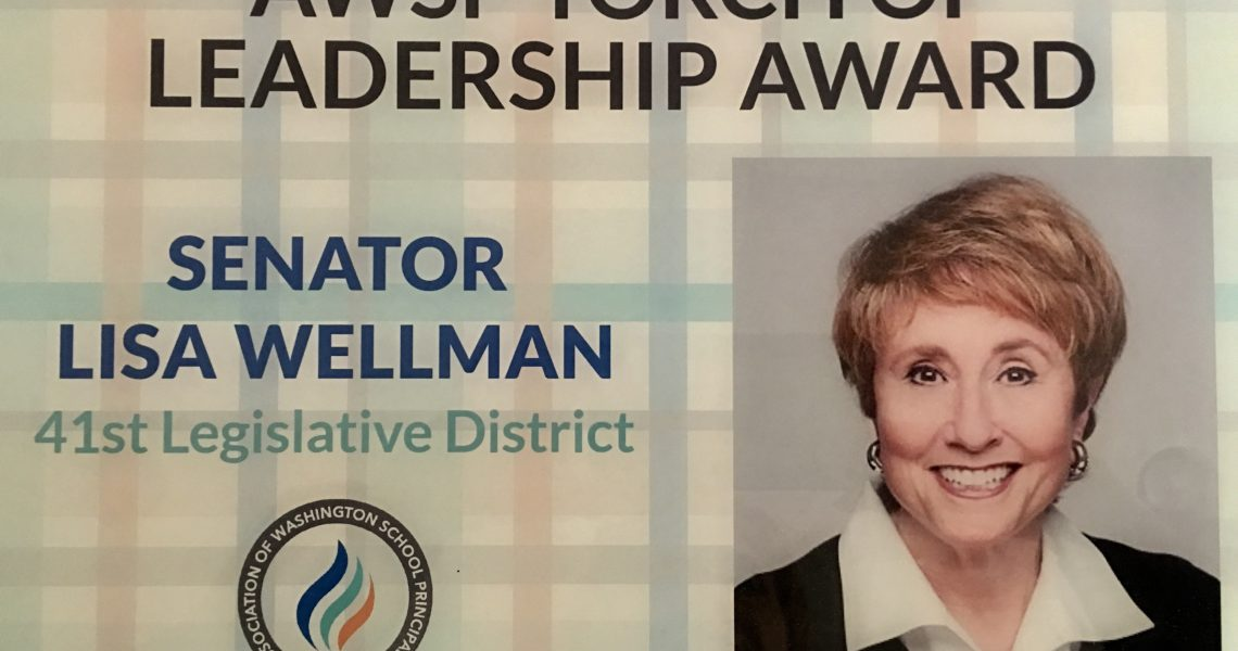 Wellman honored by state's principals